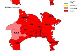 県の地図インフルエンザ